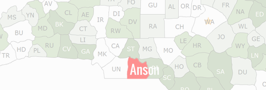 Anson County Map