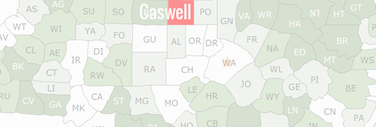 Caswell County Map