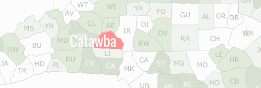 Catawba County Map