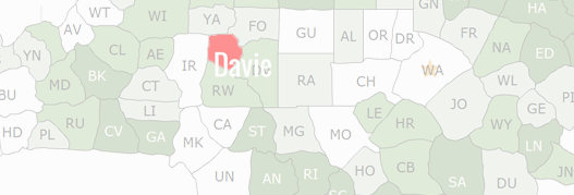 Davie County Map