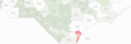 New Hanover County Map